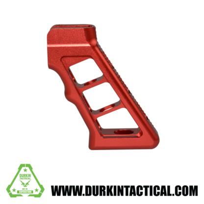 AR Skeletonized Rear Pistol Style Grip, Red Anodized Aluminum