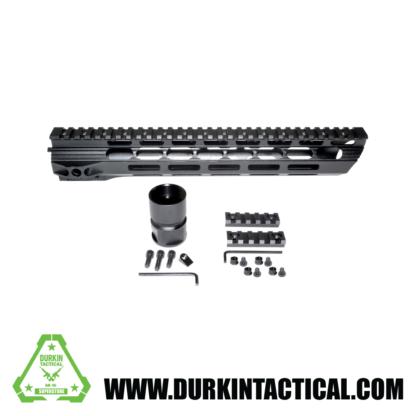 """15"""" MMARY15 Presma Light Slim Free Float M-LOK Handguard Rail, Clamp-on Aluminum Barrel Nut, AR-15 223/5.56."""