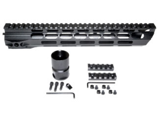 15 MMARY15 Presma Light Slim Free Float M-LOK Handguard Rail, Clamp-on Aluminum Barrel Nut, AR-15 223:5.56.