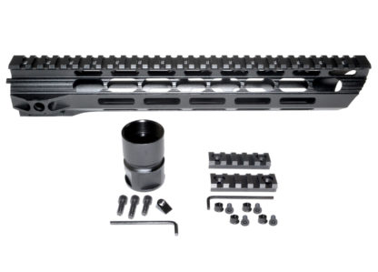 15 MMARY15 Presma Light Slim Free Float M-LOK Handguard Rail, Clamp-on Aluminum Barrel Nut, AR-15 223:5.56.