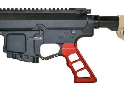 AR Skeletonized Rear Pistol Style Grip, Red Anodized Aluminum demo