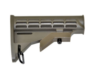 Mil-Spec Adjustable Stock w: Sling Adapter, Green
