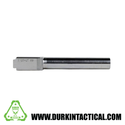 9MM Glock 17 Replacement Barrel | Stainless Steel Finish | UNTHREADED | UNBRANDED