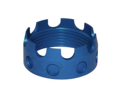 AR 7075-T6 Aluminum Castle Nut, BLUE