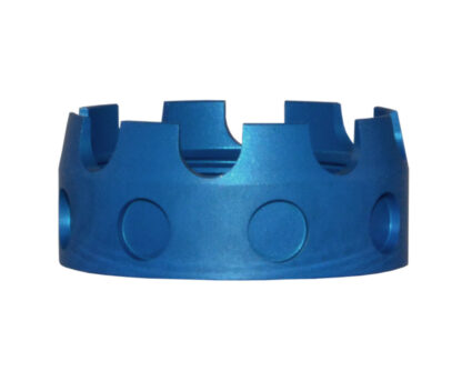 AR 7075-T6 Aluminum Castle Nut, BLUE Side