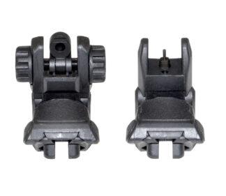 Gen2 Black Tactical Smart Polymer Front:Rear Combo Set - Picatinny:Weaver