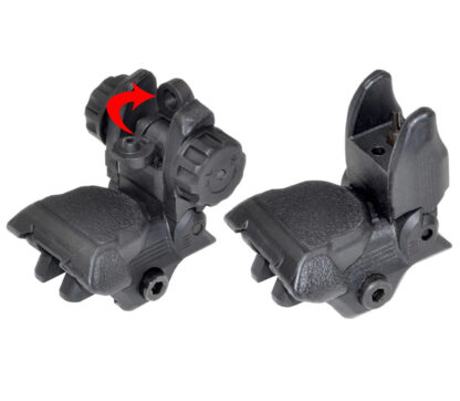 Gen2 Black Tactical Smart Polymer Front:Rear Combo Set - Picatinny:Weaver angle