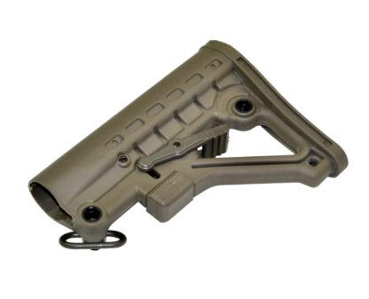 Mil-Spec Adjustable Stock w: QR Sling Adapter, Green