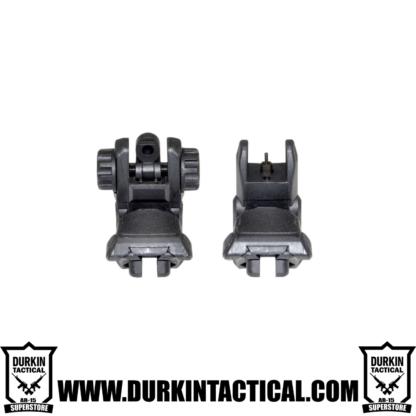 Gen2 Black Tactical Smart Polymer Front/Rear Combo Set - Picatinny / Weaver