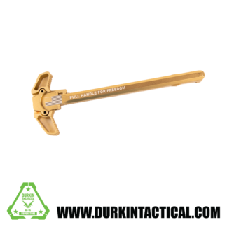 Laser Engraved Ambidextrous Charging Handle | Pull For Freedom | Tan | C10T