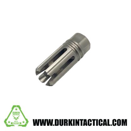 "1/2""x28 Thread, 5.56, 4 prong twist, 6 slot, Muzzle Brake   Stainless Steel"