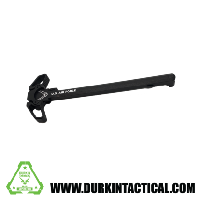 Laser Engraved Ambidextrous Charging Handle   Air Force   Black   C32