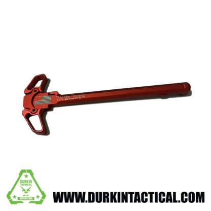 Laser Engraved Ambidextrous Charging Handle | We The People | Red | C25R
