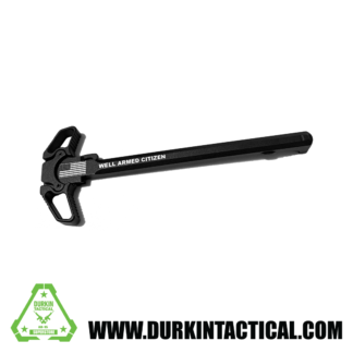 Laser Engraved Ambidextrous Charging Handle | Well Armed Citizen | Black | C22