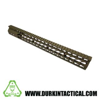 "16.5"" Ultra Lightweight Thin, Keymod, Free Floating, handguard w/monolithic toprail, .308, FDE"