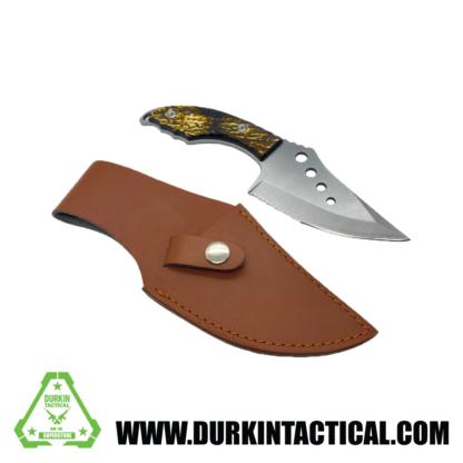 Knife, Sawtooth w/ Sheith, Short/Wide, Silver