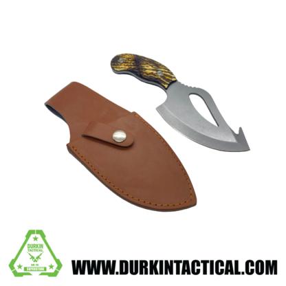Knife, Hook w/ Sheith, Short/Wide, Silver
