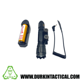 Tactical Flashlight with Integral Mount and Pressure Pad Switch