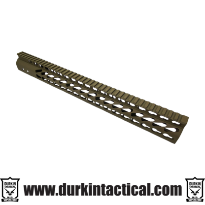 16.5″ ULTRA LIGHTWEIGHT THIN M-LOK FREE FLOATING HANDGUARD WITH MONOLITHIC TOP RAIL (.308 CAL) (FLAT DARK EARTH)
