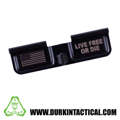 Laser Engraved Ejection Port Dust Cover | Live Free or Die/Flag
