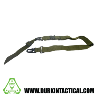2 Point Adjustable Sling with Metal QD Snap Hook Adapter - OD Green