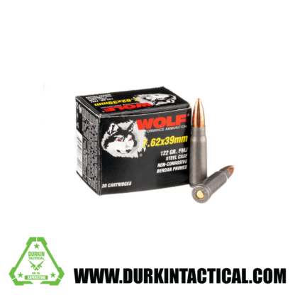 7.62 x 39 Ammo by Wolf Polyformance - 122gr FMJ   20 round box
