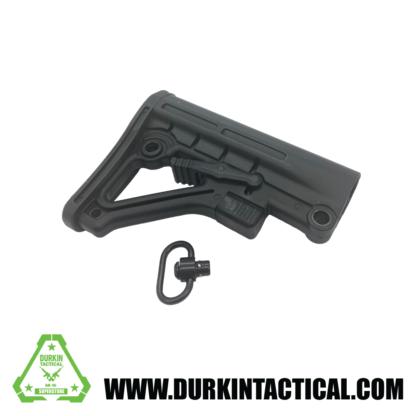 Mil-Spec Adjustable Stock with QR Sling Adapter- Black