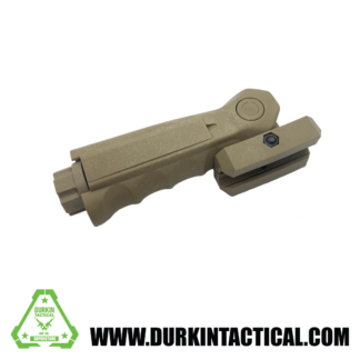 Tactical 5 Position Folding Vertical Picatinny Foregrip, FDE