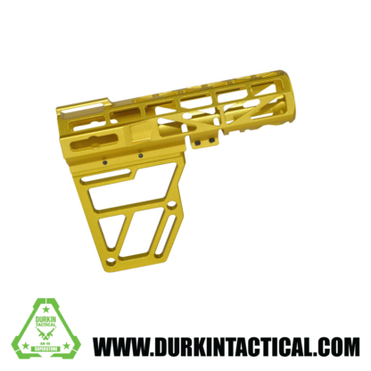 Presma Skeletonized AR Pistol Brace - Gold