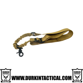 Single Point Adjustable Bungee Sling with Metal Hook - FDE