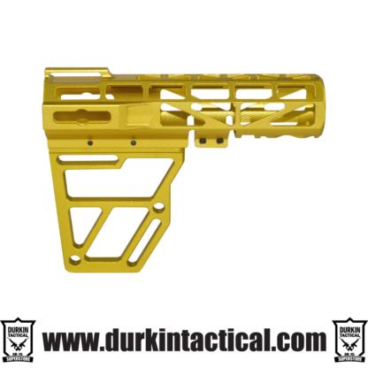 Presma Skeletonized AR Pistol Brace - Gold