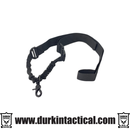 Single Point Adjustable Bungee Sling With Metal Hook - Black