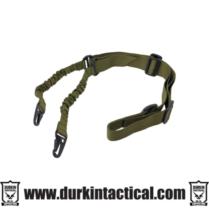 2 Point Adjustable Bungee Sling With Snap Hook Adapter - OD Green