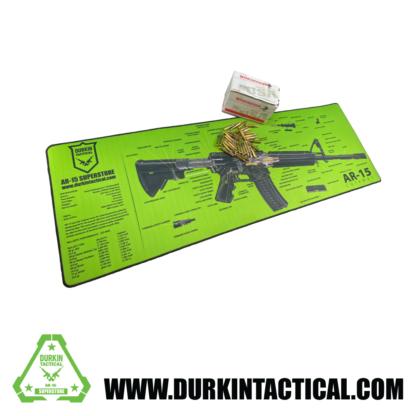 Jumbo AR-15 Durkin Tactical Build Mat Plus 30 Rounds of .223 Rem 55 Grain, Full Metal Jacket, Winchester Ammo