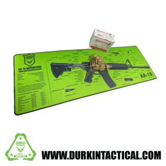 Jumbo AR-15 Durkin Tactical Build Mat Plus 30 Rounds of 5.56mm, 55 Grain, Full Metal Jacket, Winchester Ammo