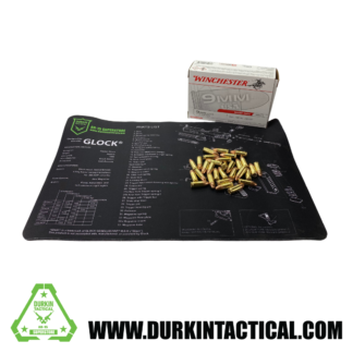 Glock Durkin Tactical Build Mat Plus 30 Rounds of 9mm, Luger 115 Grain, Winchester Ammo