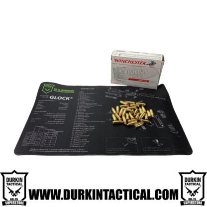 Glock Durkin Tactical Build Mat + 9mm Winchester Ammo