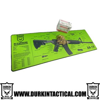 Jumbo AR-15 Durkin Tactical Build Mat Plus 30 Rounds of 5.56mm, 55 Grain, Full Metal Jacket, Winchester Ammo