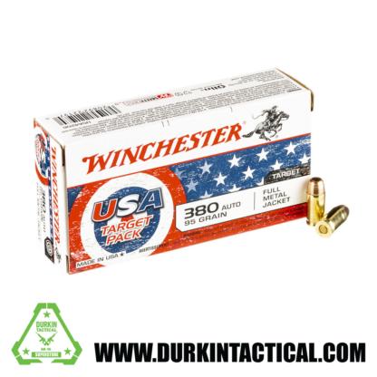 Winchester 380 ACP Ammunition, 95 Grain, FMJ - 50 Rounds