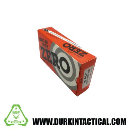 45 ACP, Zero Ammunition, 230 RN NC, 50 Round Box