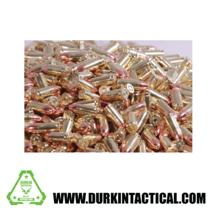 Ammo, 9MM Luger, 115 Grain, Round Nose, 1000 Rounds
