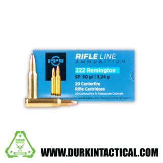 222 Remington, Soft Point, 50 grain, 3,24 g, 20 Rounds/box