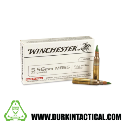 5.56 x 45mm, Winchester M855, Green Tip, 62 Grain, FMJ - 20 Rounds