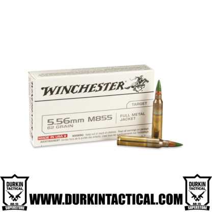 Winchester 5.56mm M855 62 Grain Full Metal Jacket Green Tip Ammo