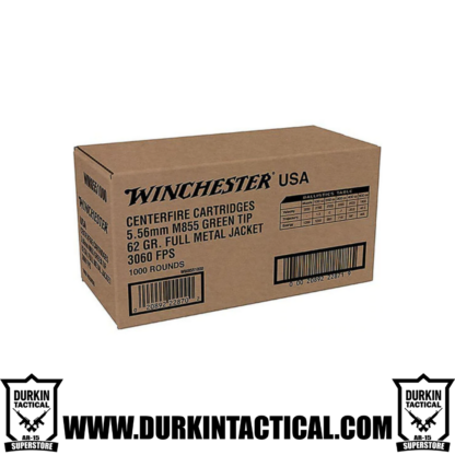 Winchester 5.56mm M855 Green Tip 62 Grain Full Metal Jacket - 1000 Rounds Ammo