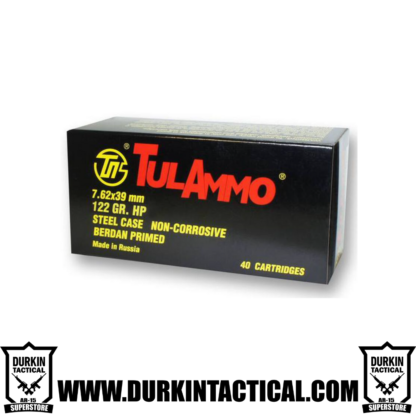 TulAmmo, 7.62X39mm, 122 Grain, Full Metal Jacket, 40 Rounds