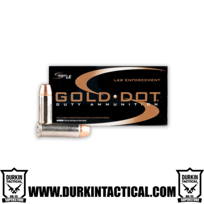 38 Special+P, Speer LE Gold Dot, 125 Grain, GDHP Ammo, 50 Round