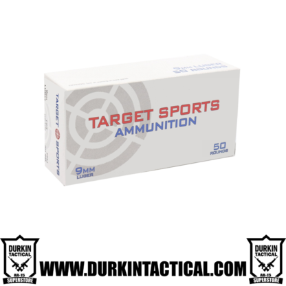 Target Sports Basic 9mm Luger Ammo 124 Grain Full Metal Jacket