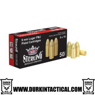 Sterling 9MM Luger Brass Cased Full Metal Jacket Ammo