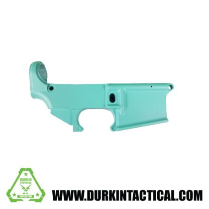 AR-15 80% Cerakote Lower Receiver - Robin Egg Blue